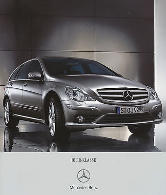 Mercedes Benz R Klasse Prospekt 5/07 Autoprospekt Broschüre brochure 2007 Auto