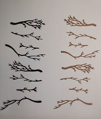 Brown Halloween (HALLOWEEN BLACK+ BROWN BARE BRANCHES DIE CUTS FOR CARDS & SCRAPBOOKING 28)