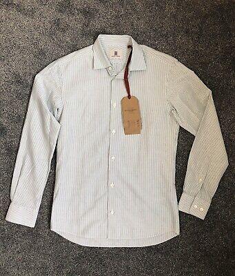 Kent & Curwen David Beckham Striped Shirt Size XS. NEW with Tags. Green & White