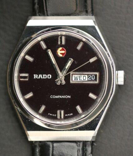 Vintage Rado Companion Swiss Made 25 Jewels Automatic Day Date Men