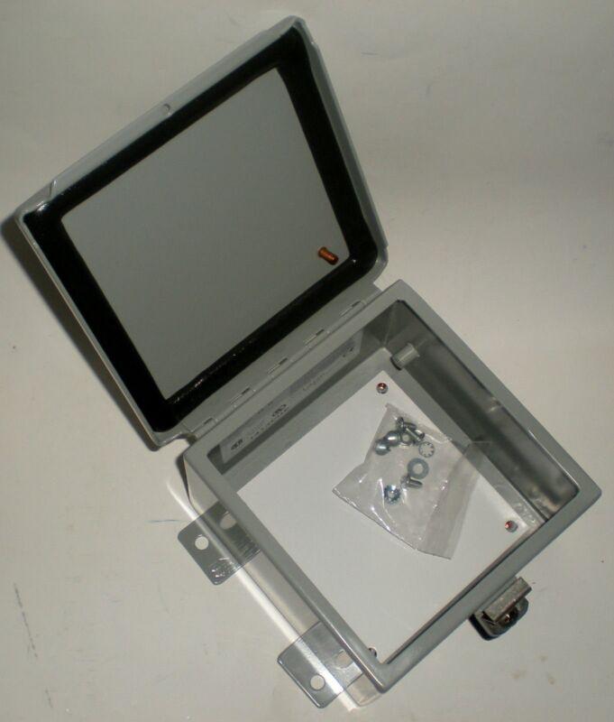 "ELECTRICAL ENCLOSURE JUNCTION BOX HAMMOND 1414PHE NEMA 12 METAL 6"" 4"" NEW IN BOX"