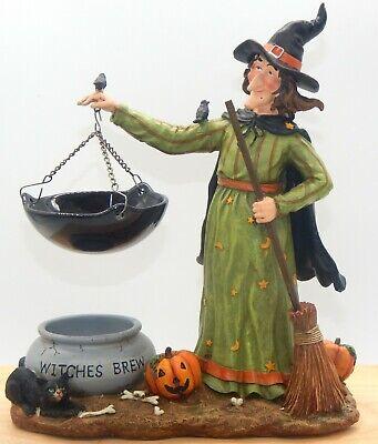 Yankee Candle Witch W/Cauldron Brew Hanging Tart Burner Vintage Retired