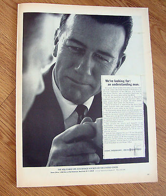 1966 Equitable Life Insurance Ad Understanding Man