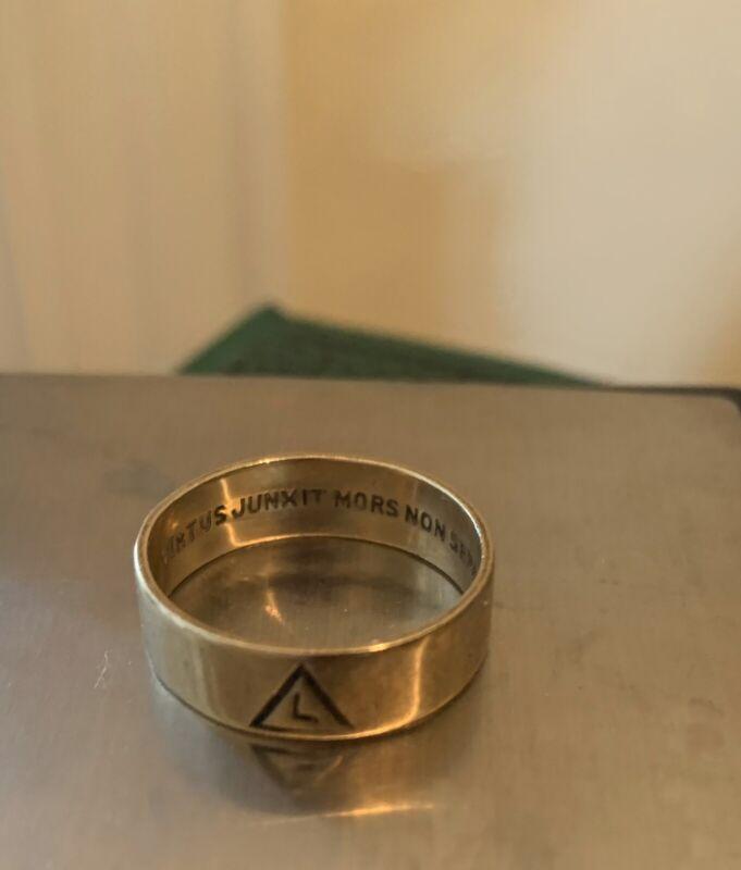 TX ESTATE From 32nd Degree Mason Unmarked 14k Gold Ring Sz9 3.7g Rufus Boren '47
