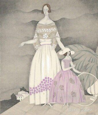Gazette du Bon Ton Pochoir ~ La Rose Du Jardin ~ 1922 Art Deco ~ Martin