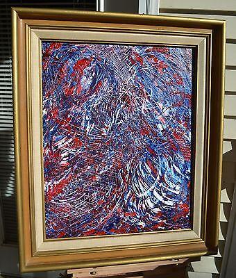 """American Eagle""  NEWEST ORIGINAL ACRYLIC ABSTRACT  Jackson Pollock  Artist LENG"