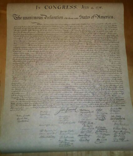 The Declaration Of Independence Copy Poster Ralph Nader Presidential Campaign
