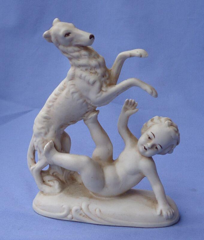1930 BISQUE BORZOI BOY GERMANY dog