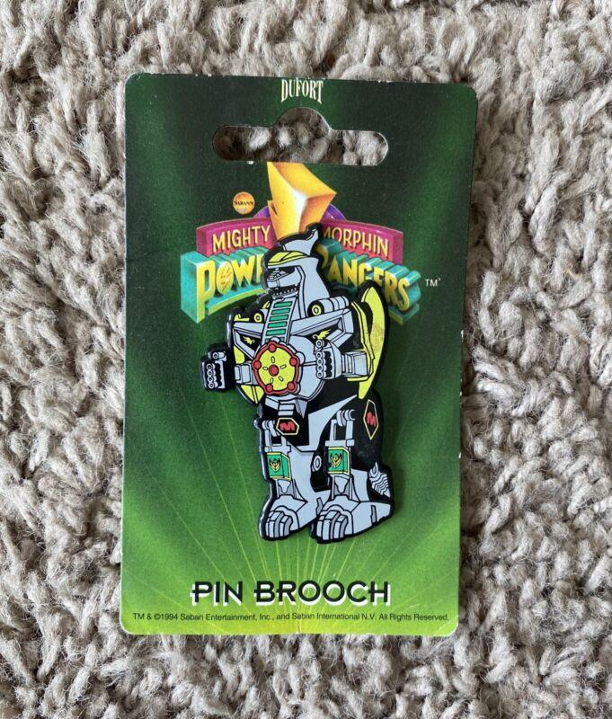 Mighty Morphine Power Rangers Pin Brooch Dufort Rare Dragonzord Ranger 1994 Pins