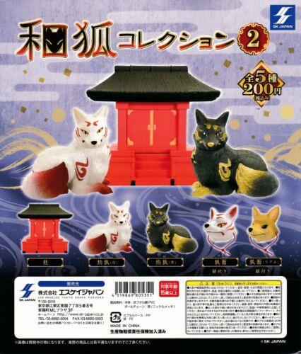 Japanese Fox Collection vol.2 Figurine complete set Gashapon Japan