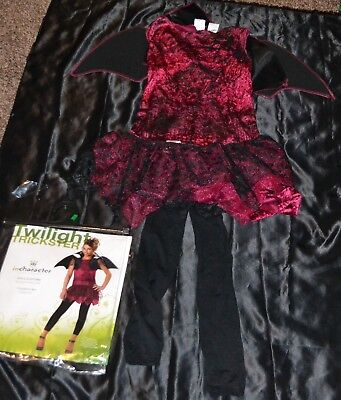 Twilight Trickster Vampire Queen Halloween Costume Fits Kids Size Girls 8-9-10](Twilight Vampire Costumes)