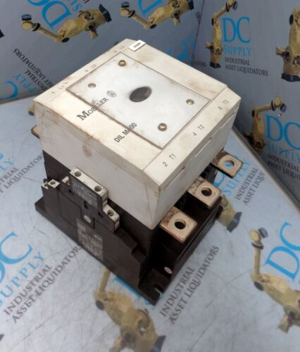 MOELLER DILM400(-S) 110-250 V 3 POLE CONTACTOR W DILM820-XHI AUXILIARY CONTACT