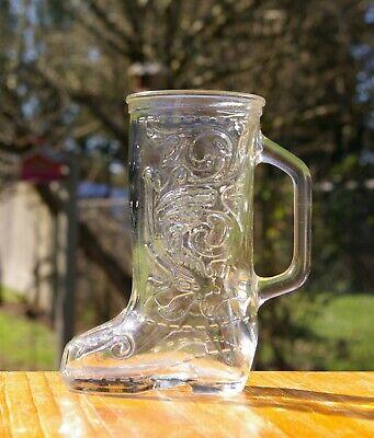 Cowboy Boot Glass Mug Cup 5 7/8