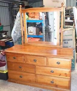 Bedroom Dresser & Mirror Stoneville Mundaring Area Preview