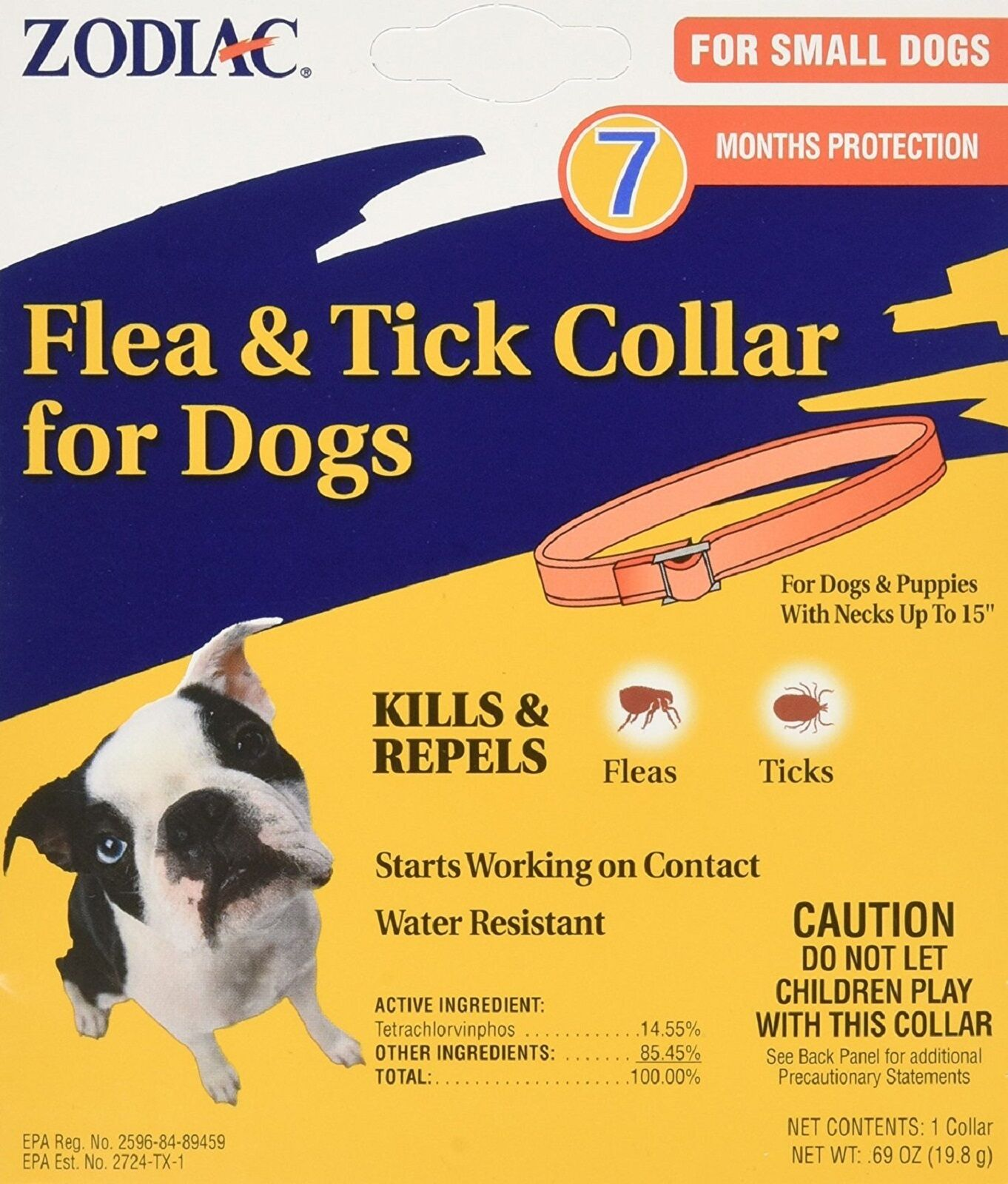 Zodiac Flea and Tick Collar for Small Dogs, 15""