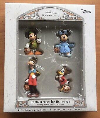 2007 Hallmark Disney Famous Faces Halloween Keepsake Ornaments Mickey Goofy