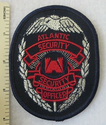 Atlantic Security Officer Patch Vintage Original