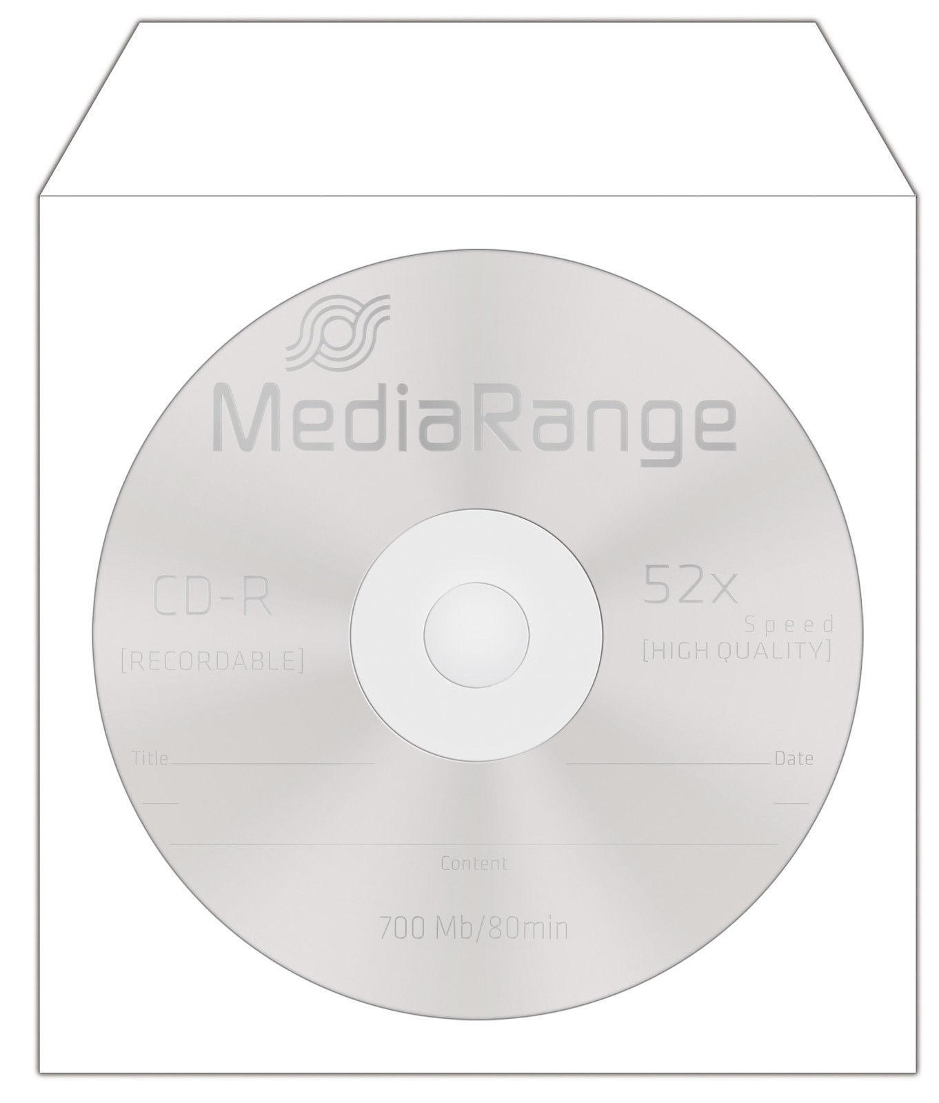 100-2000 Papierhüllen mit Fenster Papiertasche Box für CD DVD Blu-Ray Rohlinge