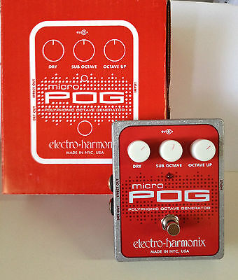 ELECTRO HARMONIX GUITAR EFFECT PEDAL MICRO POG OCTAVE WORLDWIDE FREE SHIPPING!!