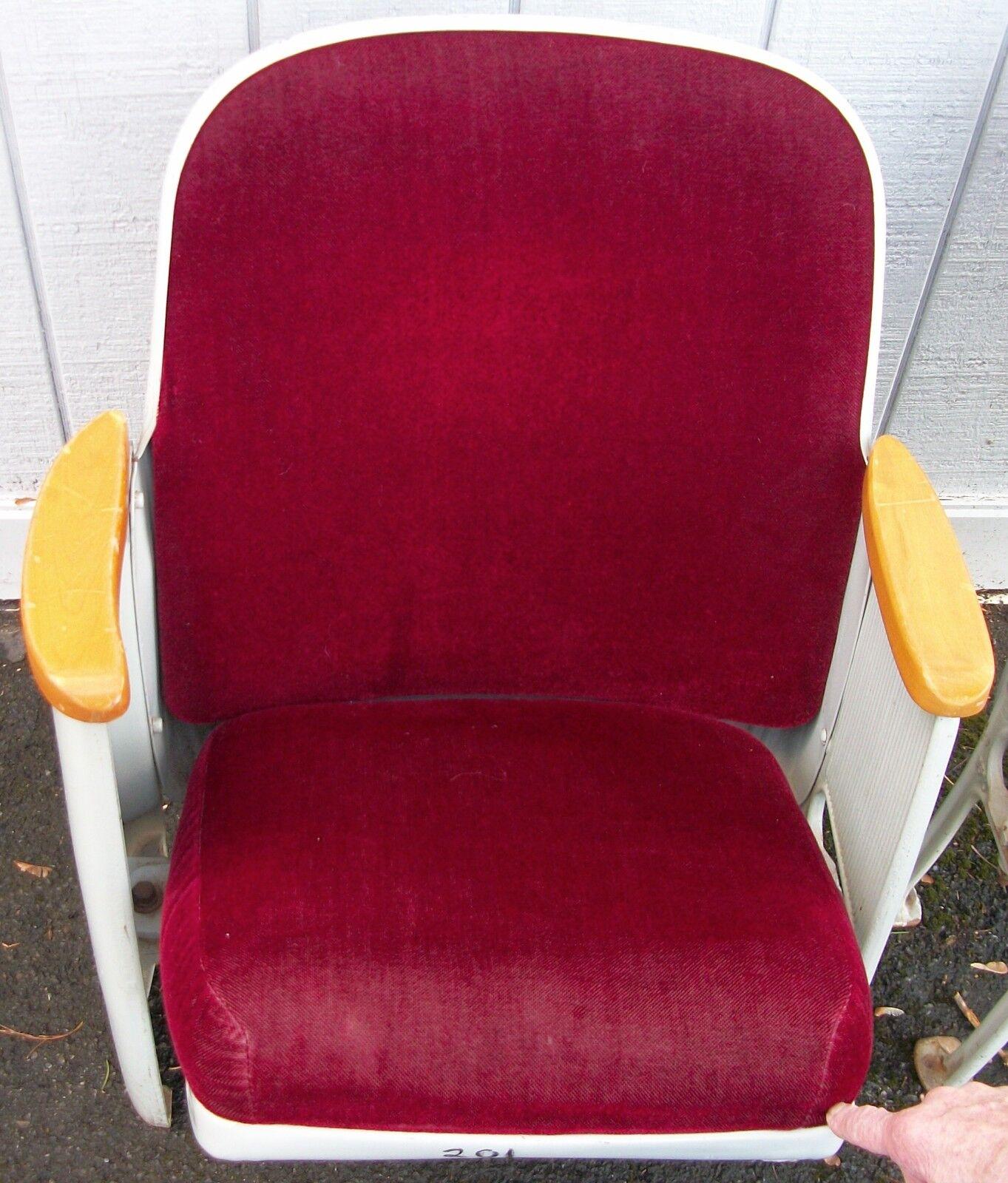 Photo Art Deco Burgandy Movie Theater Seats