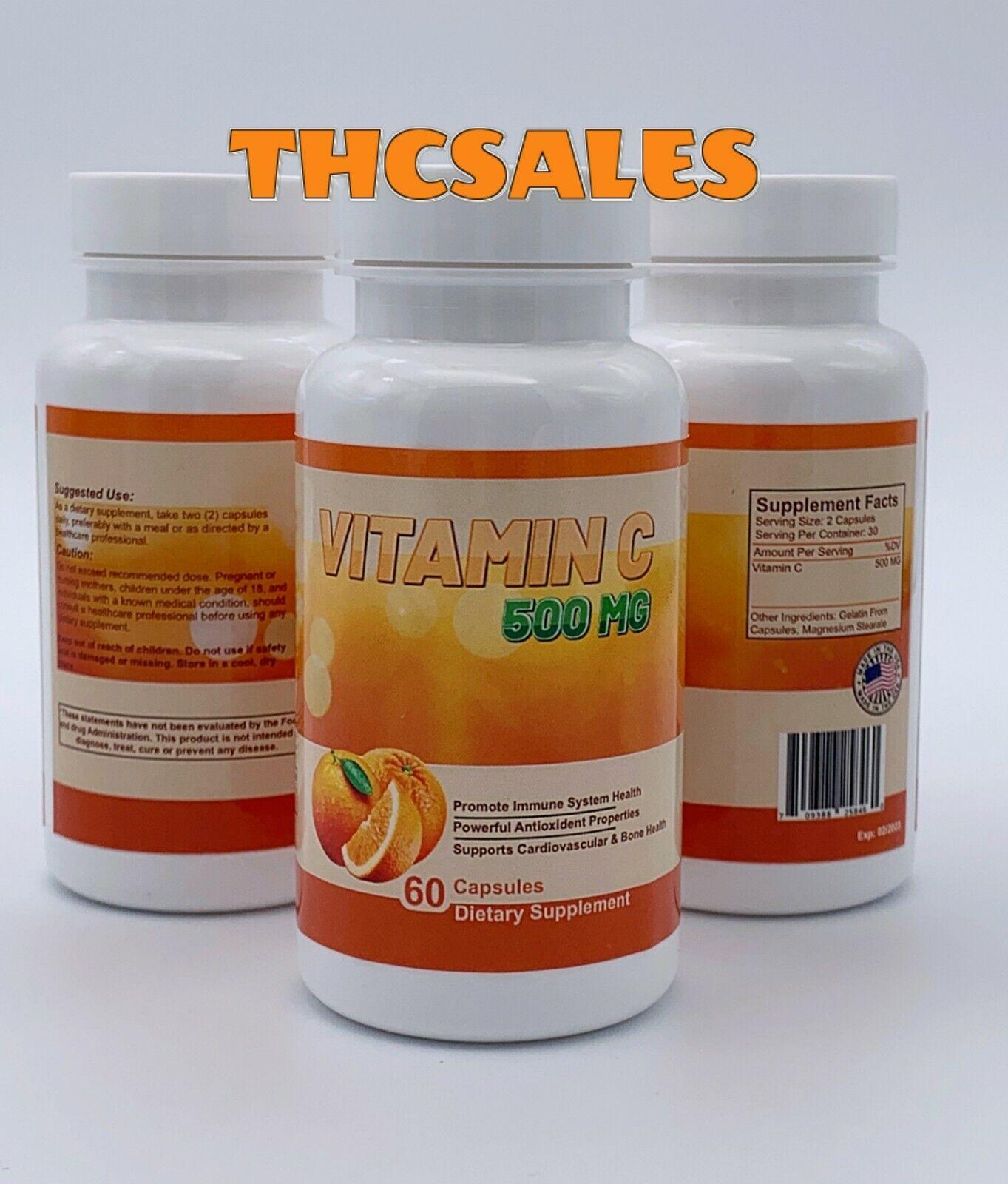 (3) 180 Pastillas De Vitamina C Para La Gripe Fortalecer Sistema Inmunológico