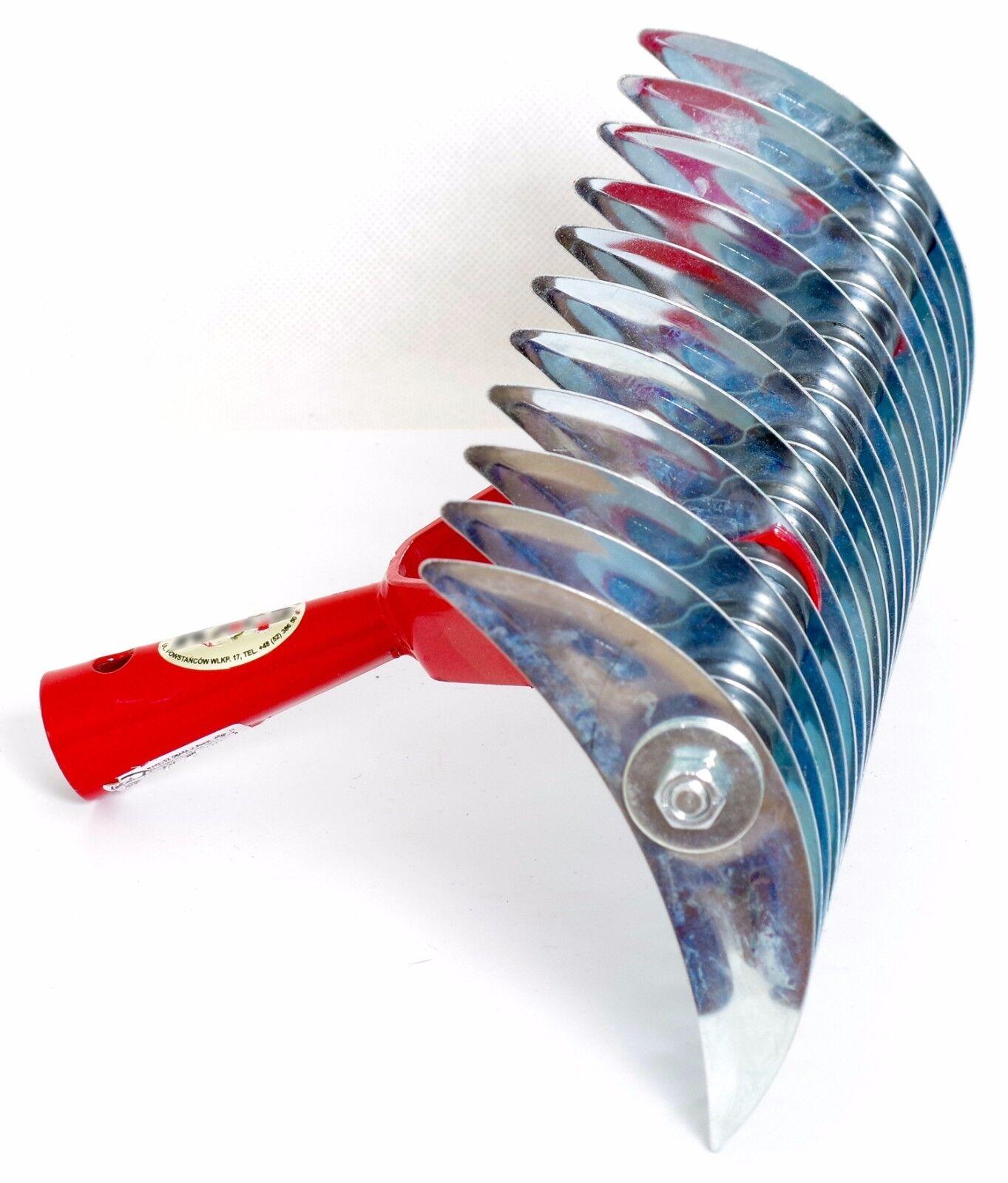 Handvertikutierer 35cm Schneidrechen Vertikutierer Rasenlüfter Harke Rechen K_93