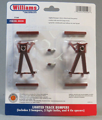 WILLIAMS LIGHTED TRAIN TRACK BUMPERS 00228 end rail for Lionel O/027 GAUGE 228