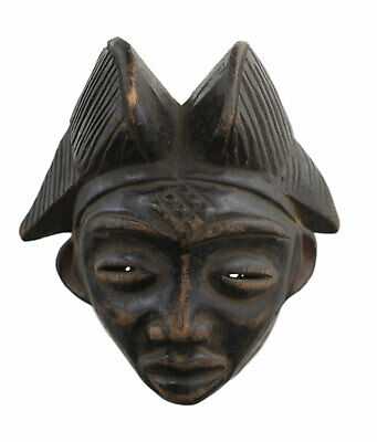 Masquette Punu Pounou Grade Mask African Gabon 14 cm Art Primitive 16932
