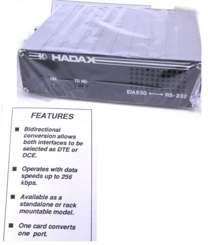 Hadax EIA-530 (TIA-530 RS-530) to RS-232 DTE - DCE DB25 Interface Converter