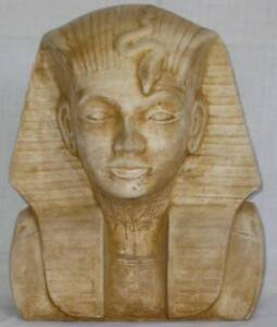 LARGE COLLECTABLE TUTENKHAMUN EGYPTIAN BUST VERY GOOD CONDITION Inala Brisbane South West Preview