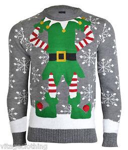 Noroze-Mens-Novelty-Elf-Joker-Knitted-Christmas-2015-16-Retro-Sweater-Jumper-Top