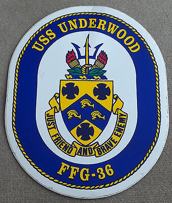 US Navy Decal - Sticker USS Underwood FFG - 36