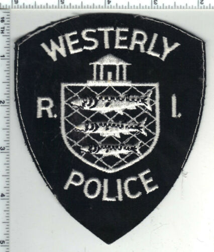 Westerly Police (Rhode Island) 1st Issue Uniform Cut-Off Shoulder Patch