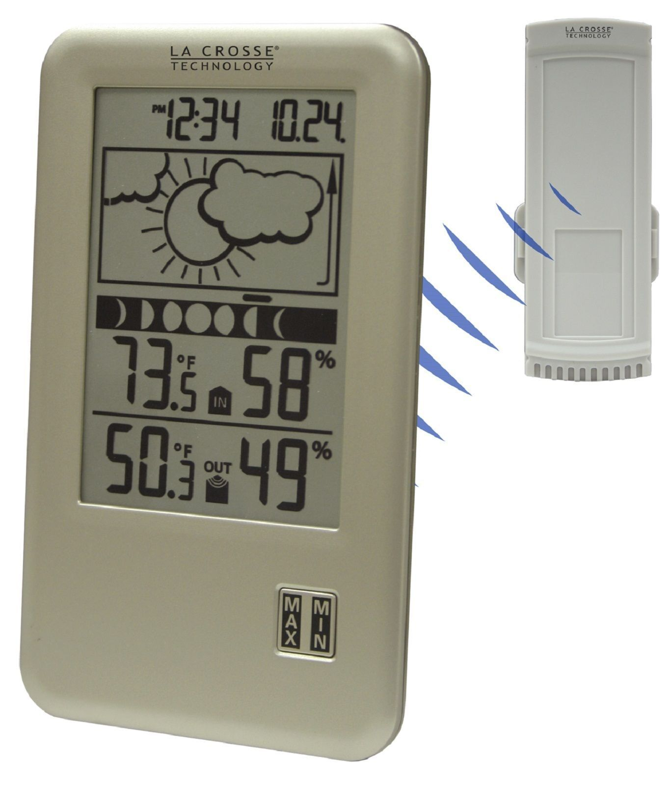 NEW La Crosse WS-9060 Wireless Digital Forecast Station with Moon Phase TX45UTH