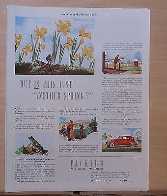 1937 magazine ad for Packard - Springtime vignettes, Is this just another Spring
