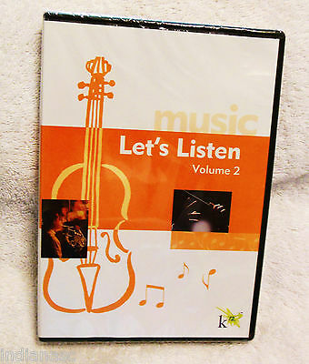 Music Let's Listen Vol 2~Classical~Children~Young Adults YA~K12~Brahms~Vivaldi - Adult Classic Movies