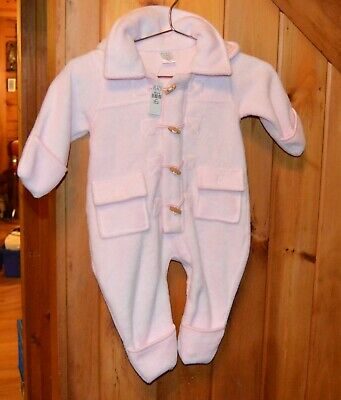 The Children's Place Infant Pink Fleece Snowsuit w/ Hood Mittens 12 Months NWT Infant Fleece Mittens
