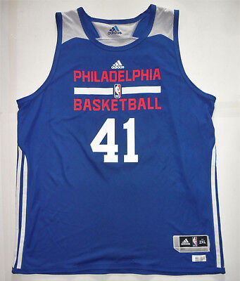 fc09e5c798b GAME WORN TEAM ISSUED '16 PHILADELPHIA 76ers LONG #41 NBA SUMMER LEAGUE  JERSEY