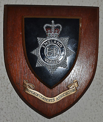 Police Superintendents Association plaque crest shield coat of arms constabulary