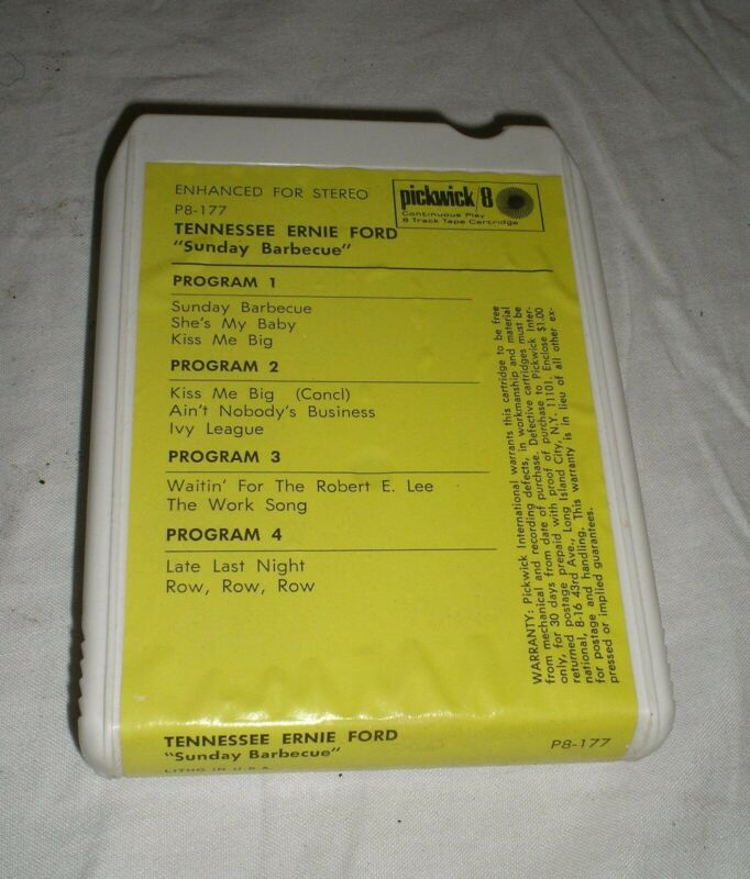 Tennessee Ernie Ford - Sunday Barbecue - 8 Eight Track Tape