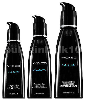 Wicked Aqua Fragrance Free Water Based Sex Lubricant - Choose (Aqua Fragrance)