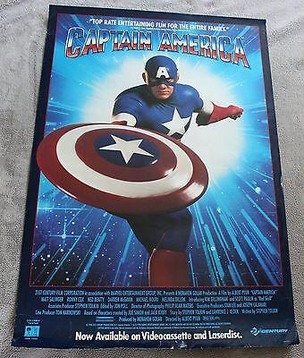 Captain America 1992 Stan Lee Matt Salinger Scott Paulin Video MOVIE Poster VG (Captain America 1992 Movie)