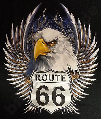- T-Shirt EAGLE ROUTE 66, Biker- Rocker- Motorradfahrer USA Custombike 284