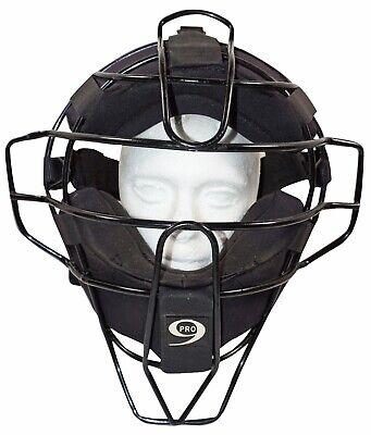 PRO-NINE TRADITIONAL STYLE UMPIRE BASEBALL FACE BLACK CAGE MASK SR ADULT USED Pro Nine Umpire