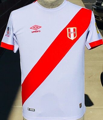 PERU NATIONAL TEAM HOME  SOCCER  JERSEY 2018 Size SMALL,  MEDIUM and LARGE