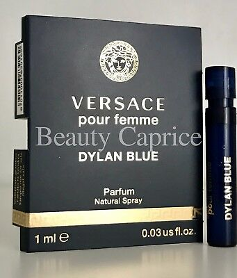 1 Sample x1ml Versace Dylan Blue Pour Femme Parfum SPRAY VIAL Free P&P