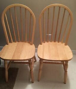 TWO WOODEN CHAIRS AS NEW $10.00