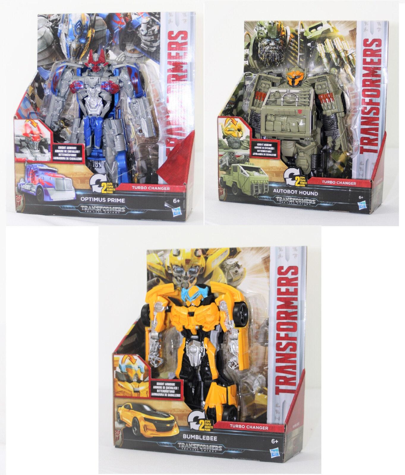 Transformers Turbo Changer, Bumblebee, Optimus Prime, Autobot Hound