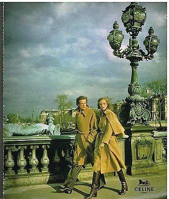 Publicité advertising 1977 haute couture les manteaux celine