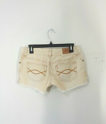 Cord Cut Off Short (Abercrombie Fitch Tan Beige Cut Off Cords Shorts Size 4 Frayed Hem)